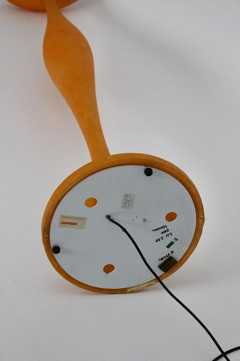 Modern Orange Vintage Guglielmo Berchicci E.T.A. Floor Lamp for Kundalini, Italy For Sale 10