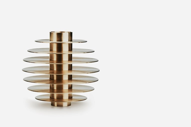 Modern ORB Candleholders Set CS1 by Noom in Brass In New Condition For Sale In Kyiv, UA
