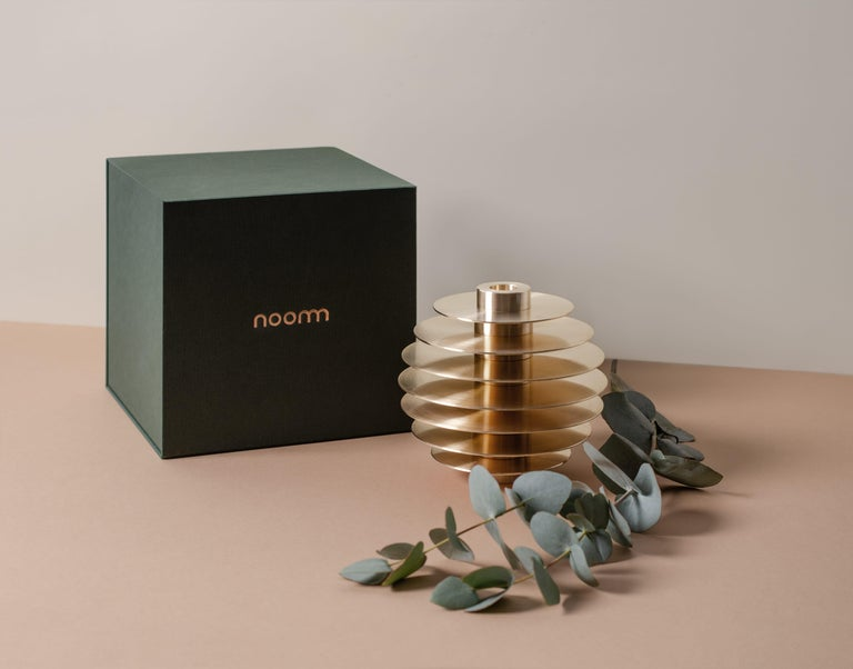 Modern ORB Candleholders Set CS1 by Noom in Brass For Sale 3