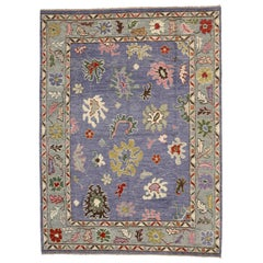New Contemporary Oushak Area Rug with Memphis Design and Postmodern Luxe Style