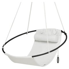 Modern Outdoor Hanging Swing Chair White Vegan and Eco Friendly