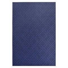 Modern Outdoor Rug Waterproof Polypropylene Geometric Pattern Blue