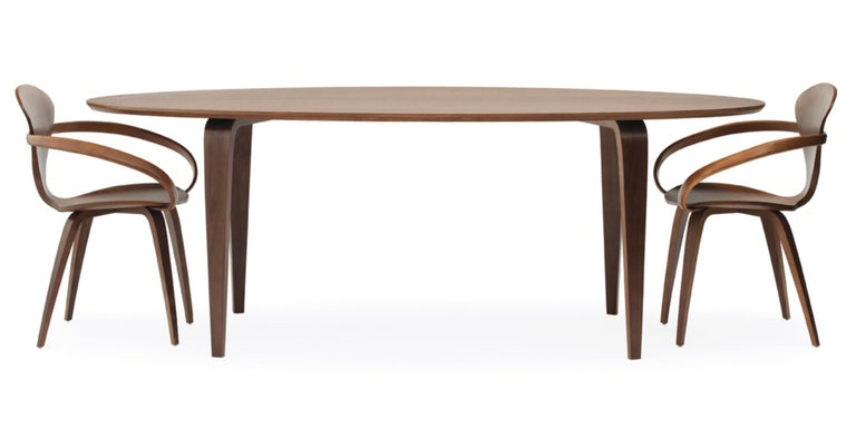 Mid-Century Modern Modern Oval Cherner Dining Table, Classic Walnut Cherner Chair Company