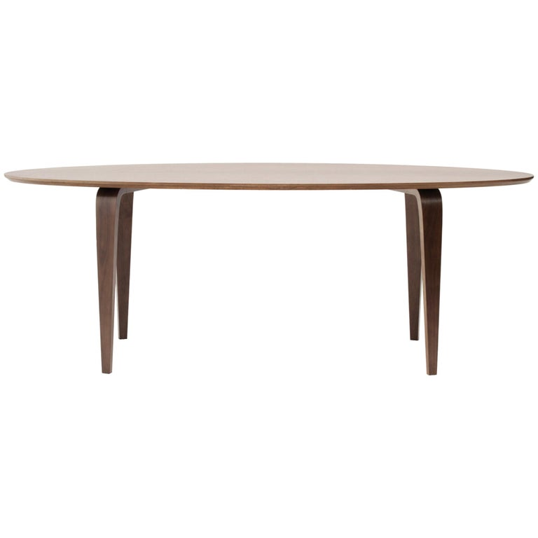 Modern Oval Cherner Dining Table, Classic Walnut Cherner Chair Company
