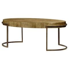 Modern Oval Chestnut Coffee Table