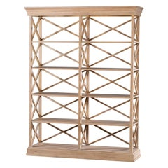 """Modern Painted """"X"""" Form Bookcase Display Cabinet Open Shelves"""