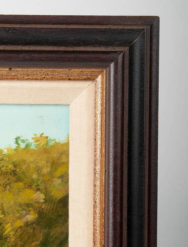 Modern Painting of an English Meadow Landscape, John Haskins, Late 20th Century For Sale 4