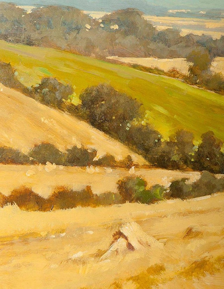 Modern Painting of an English Meadow Landscape, John Haskins, Late 20th Century In Good Condition For Sale In Casteren, Noord-Brabant