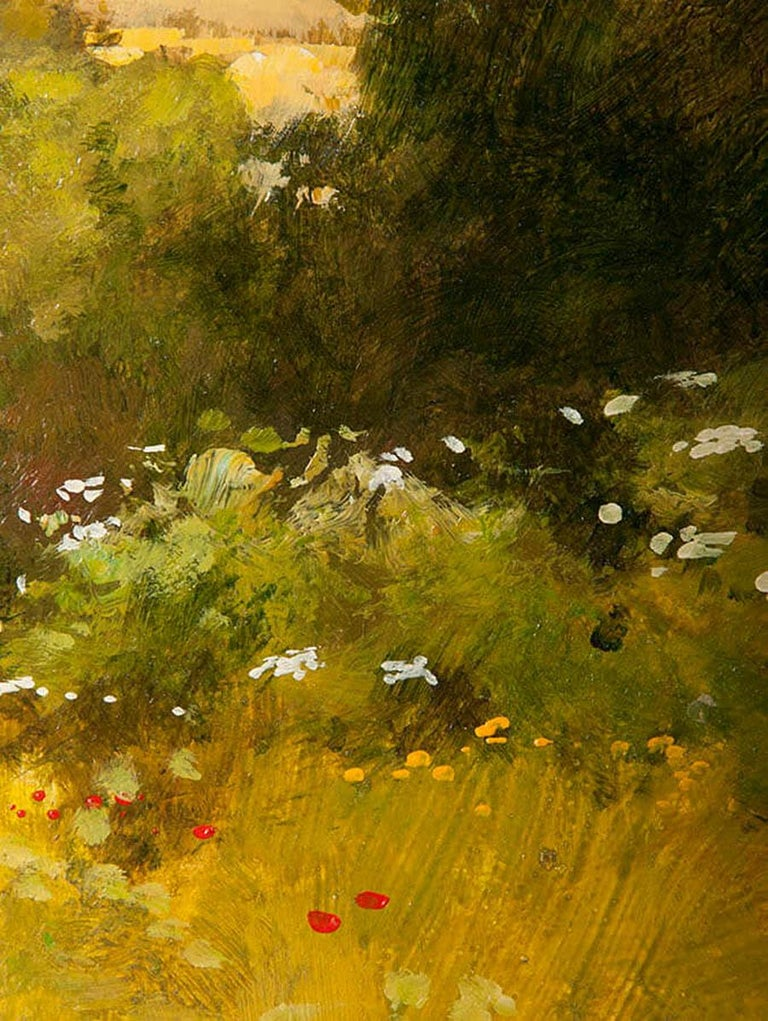 Modern Painting of an English Meadow Landscape, John Haskins, Late 20th Century For Sale 2
