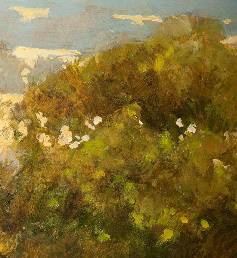 Modern Painting of an English Meadow Landscape, John Haskins, Late 20th Century For Sale 3