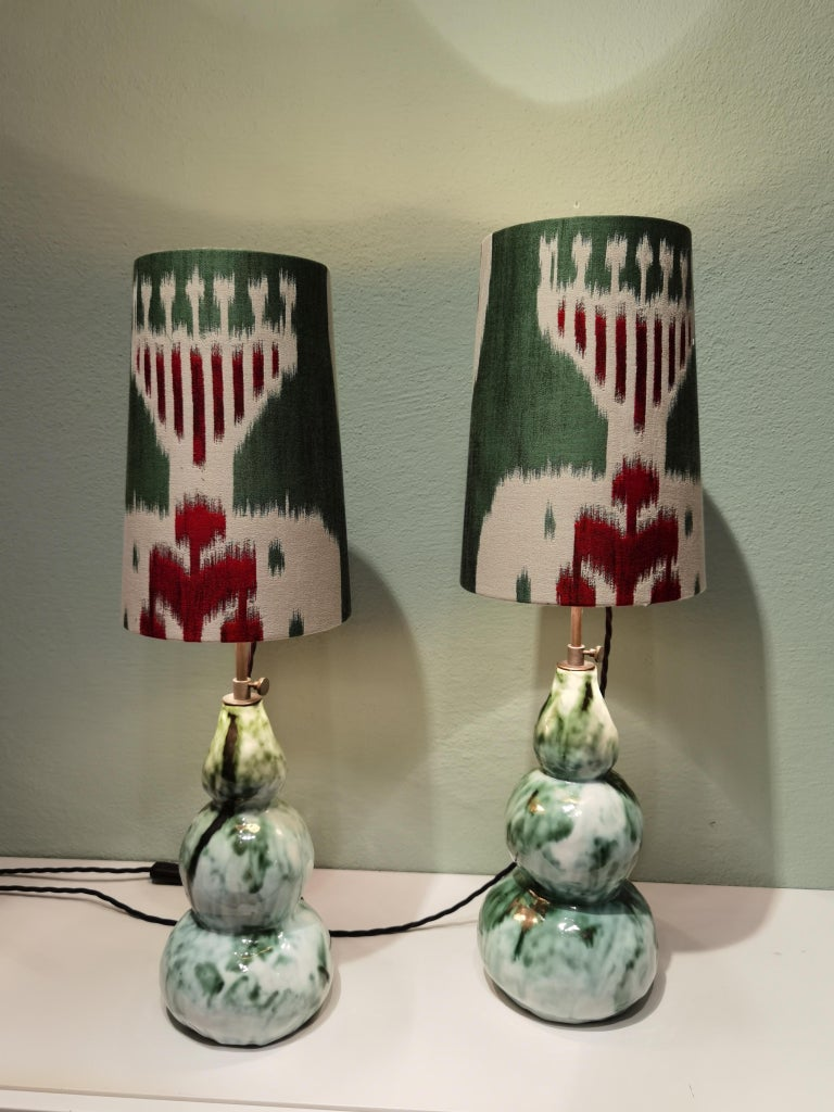 Mid-Century Modern Modern Pair of Handcrafted Table Lamps Pottery Sofina Boutique Kitzbühel For Sale