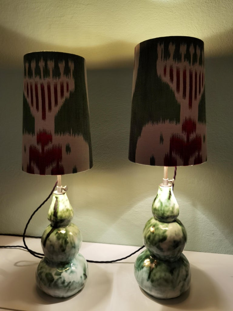 Modern Pair of Handcrafted Table Lamps Pottery Sofina Boutique Kitzbühel In New Condition For Sale In Kitzbuhel, AT