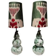Modern Pair of Handcrafted Table Lamps Pottery Sofina Boutique Kitzbühel