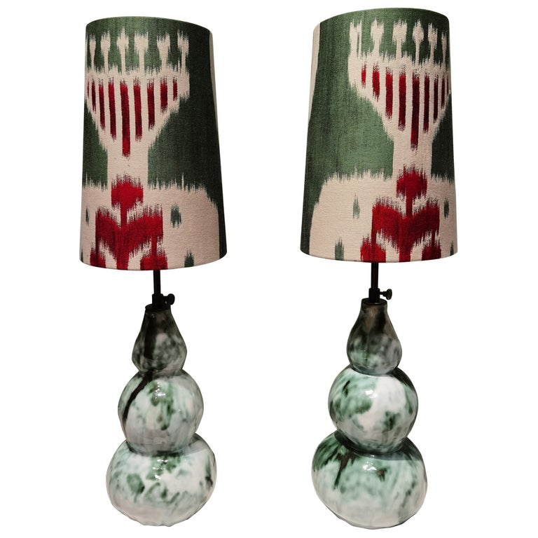 Modern Pair of Handcrafted Table Lamps Pottery Sofina Boutique Kitzbühel For Sale