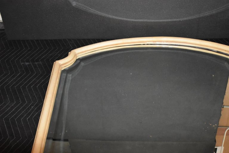 Modern Parchment Mirror In Good Condition For Sale In Los Angeles, CA