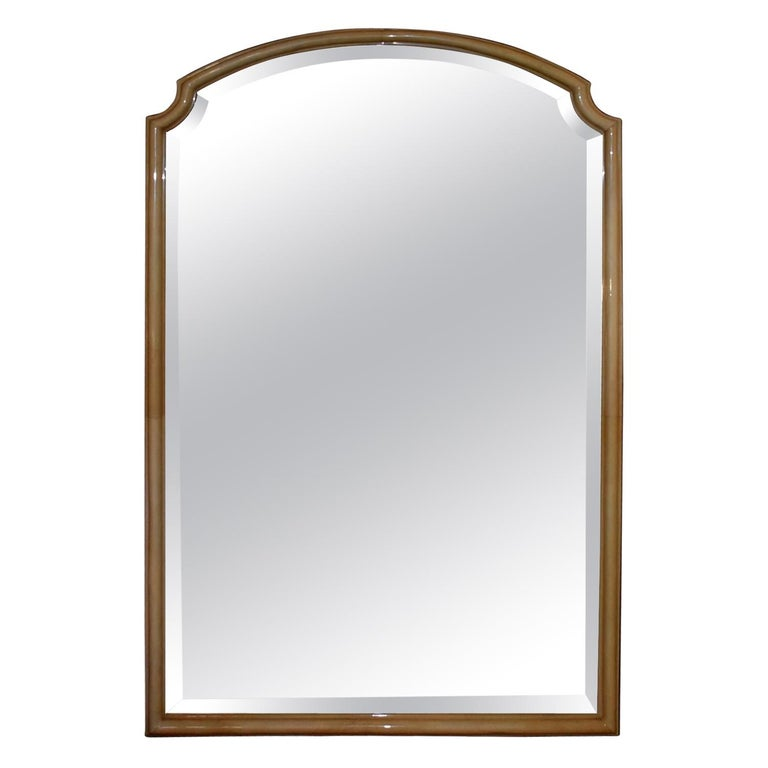 Modern Parchment Mirror For Sale