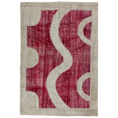 Modern Patchwork Rug Made of Vintage Anatolian, Custom Options Available