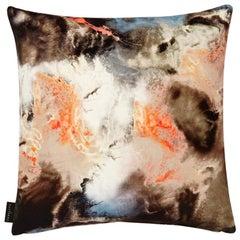 Modern Peach Cloud Pattern Cotton Velvet Cushion by 17 Patterns
