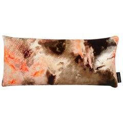 Modern Peach Cloud Pattern Velvet Lumbar Cushion by 17 Patterns