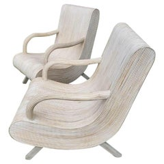 Modern Pencil Reed Lounge Chairs