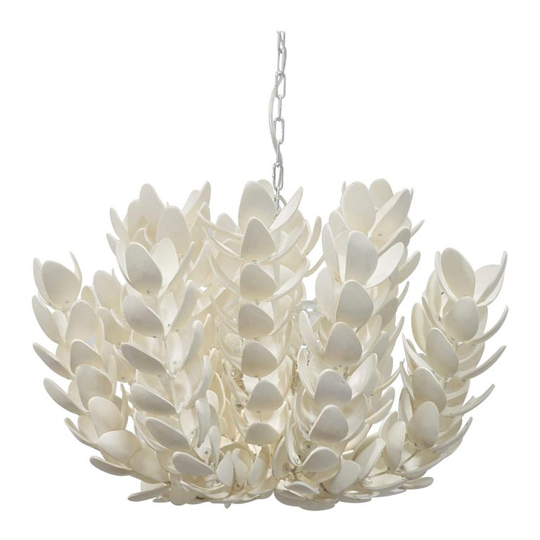 Modern Pendant Crafted of Shells in Petal Forms For Sale