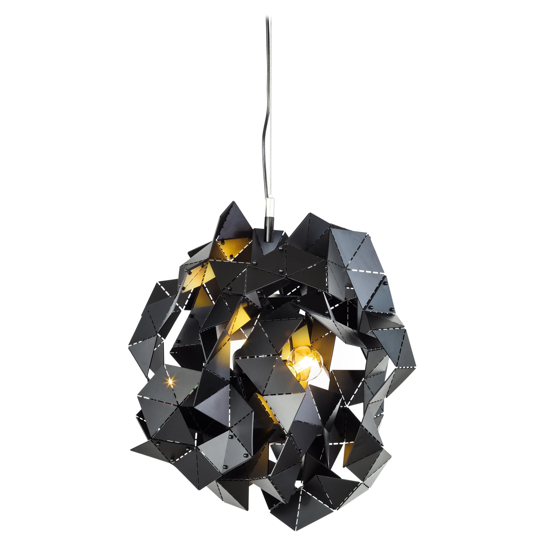 Modern Pendant in a Black Matt Finish, Fractal Cloud Collection, by Brand Van