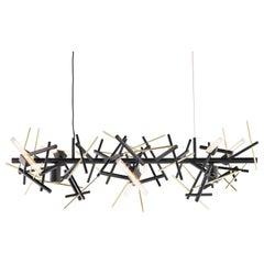 Modern Pendant in a Black Matt Finish, Linea Collection, by Brand van Egmond