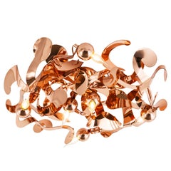 Modern pendant in a copper finish - Kelp collection, by BRAND VAN EGMOND