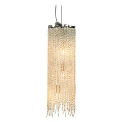 Modern Pendant in a Nickel Finish with Crystals, Victoria Collection, by Brand