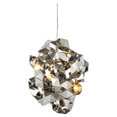 Modern Pendant in a Stainless Steel Finish, Fractal Cloud Collection, by Brand