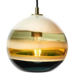 Moderne Anhänger Beleuchtung, Borrego gebändert, Orb, mundgeblasenem Glas von Siemon & Salazar