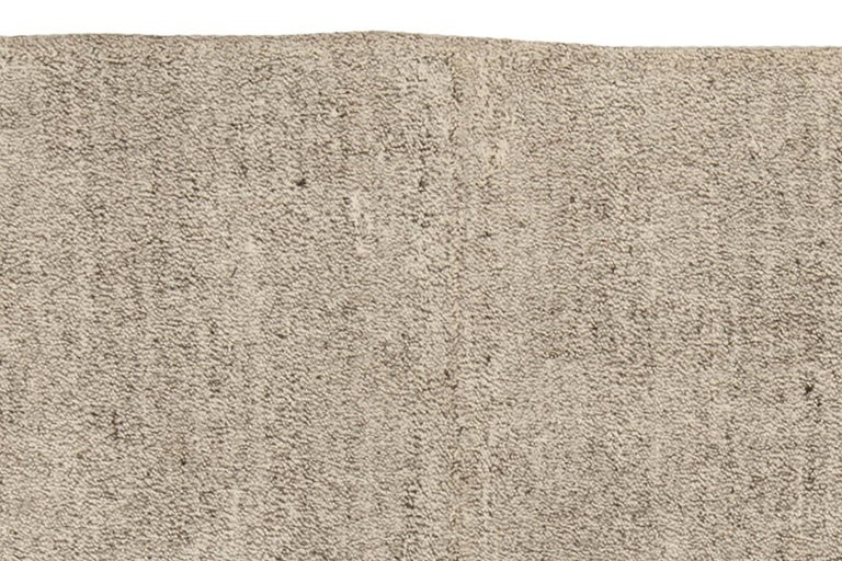 Contemporary Modern Persian Beige and Gray Kilim Rug For Sale