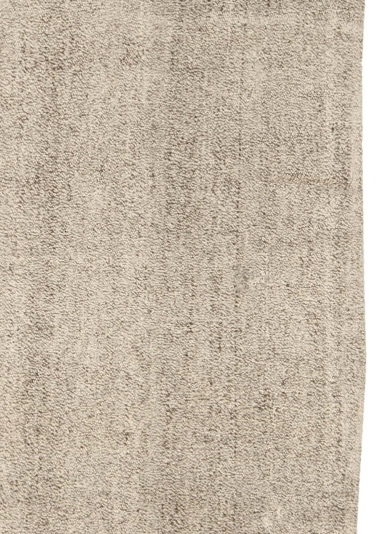 Wool Modern Persian Beige and Gray Kilim Rug For Sale