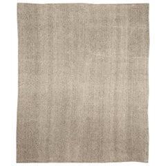 Modern Persian Beige and Gray Kilim Rug