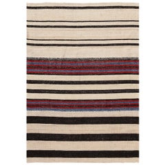 Modern Persian Flat-Weave Rug. Size: 3 ft. 8 in x 5 ft. 2 in