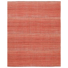 Modern Persian Flat-Weave Rug. Size: 5 ft. 5 in x 6 ft. 7 in
