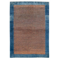 Modern Persian Gabbeh Colorful Handmade Wool Rug