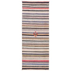 Modern Persian Kilim Runner Rug. Size: 3 ft 10 in x 9 ft 11 in
