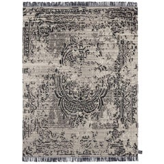 Modern Persian Rug Dyed Silk & Natural Hand-Knotted Wool from Nepal by cc Tapis
