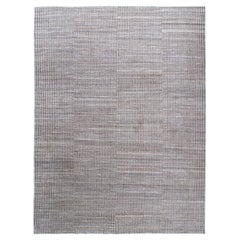 Modern Persian Shiraz Hand Knotted Natural, Beige and Grey Rug