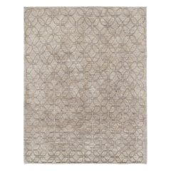 Modern Persian Shiraz Handknotted Rug in Natural Tones
