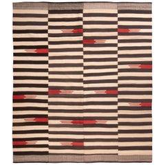 Modern Persian Stripe Kilim