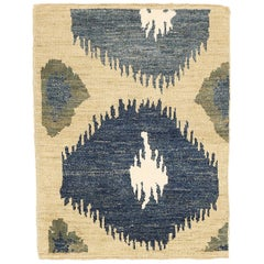 Modern Persian Sultanabad Rug with White and Pink Floral Details