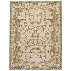 Contemporary Handmade Persian Room Size Carpet In Viennese Secession Style