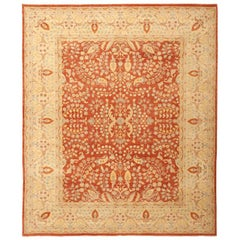 Modern Persian Tabriz Design Rug from Pakistan. Size: 7 ft 1 in x 9 ft 7 in