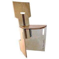"Modern Piece of Werner Schmidt, 1990 ""Faltsessel"" Beechwood Folding Chair"