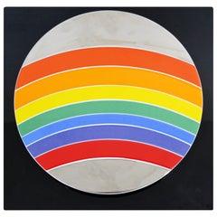 Modern Piene Rosenthal Jahresteller Rainbow Porcelain Ceramic Wall Sculpture