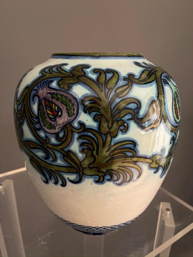 Italian Modern Pietro Melandri and Paolo Zoli Ceramic Vase  For Sale