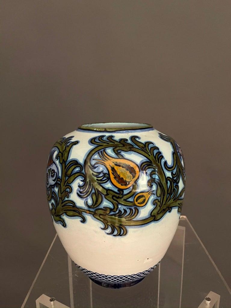 Glazed Modern Pietro Melandri and Paolo Zoli Ceramic Vase  For Sale