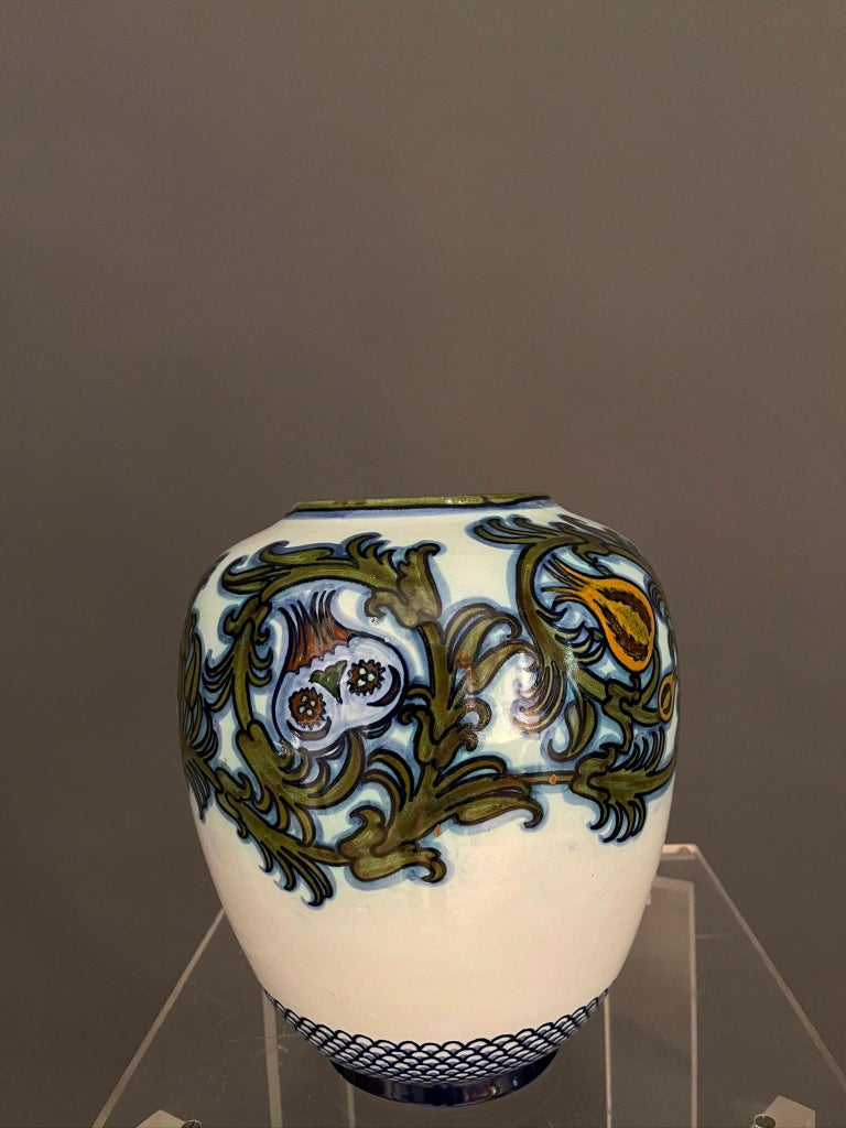 Modern Pietro Melandri and Paolo Zoli Ceramic Vase  In Good Condition For Sale In Paris, FR